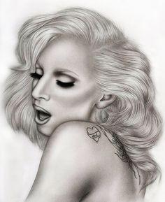 Lady Gaga by AdamAlexisRyan on deviantART ~ pencil portrait