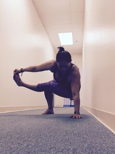 Baby grasshopper yoga pose