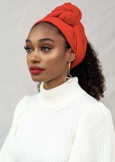 Hair Wrap Scarf, Hair Scarf Styles, Curly Hair Styles, Natural Hair Styles, African Hairstyles, Scarf Hairstyles, Black Women Hairstyles, Turbans, Headscarves