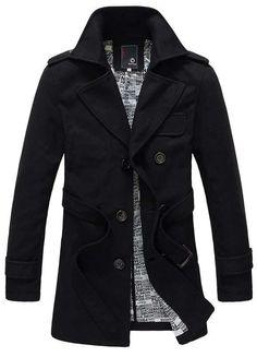 Men's Style: The Barnes Double Breasted Trench Black!