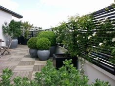 Terrace Balcony | Accent of France - this batten-style of trellising gives a…