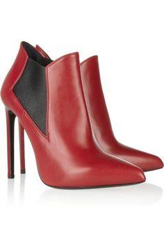 Saint Laurent|leather Ankle Boots|net-a-porter.com