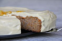 Gluten free carrot cake. Made with coconut flour, rice malt syrup, etc.
