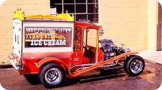 Ice cream truck by George Barris. You can see this car and much more at… Hot Rod Trucks, Cool Trucks, Cool Cars, Classic Trucks, Classic Cars, Hot Rods, Vintage Cars, Antique Cars, Vanz