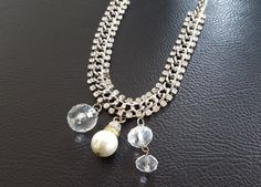 Elegant Necklace: Beautiful Rhinestones Chain by TheTimelessPeony