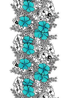 Metsovaara Elle, turquoise, design by Marjatta Metsovaara
