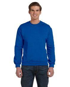 Anvil mens Combed Ringspun Fashion Fleece Crew Neck Sweatshirt (71000), Adult Unisex, Size: XXL, Blue