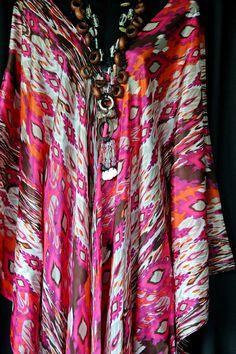Tissue Habotai Silk Full Length Kaftan by MollyKaftans on Etsy, $159.00