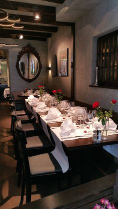 steinbock thun by raumforum Restaurant Design, Table Settings, Capricorn, Stones, Place Settings