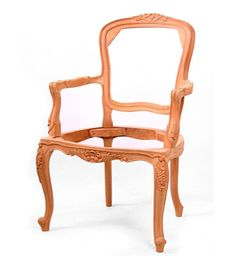 French Salon Armchair / Salon Chair Lily Carved / Dutch Connection