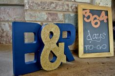 Engagement Party Decor & Details: Wedding Countdown Sign