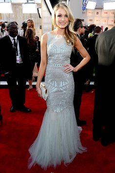 Katrina Bowden shimmered in a Badgley Mischka dress at the 2013 SAG Awards.