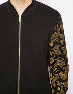 Image 3 of River Island Bomber Jacket with Paisley Sleeves