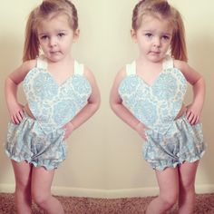 Blue Heart Romper<3