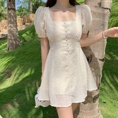 Chiffon Embroidery Dress Women Mini Summer a Line Vestido Ropa Mujer Corto Party Robe Boho Beach Festa Sun Ladies Dresses Mulher Cute Casual Outfits, Girly Outfits, Pretty Outfits, Pretty Dresses, Cute Dress Outfits, Dress Ootd, Beautiful Summer Dresses, Boho Dress, Kawaii Fashion