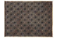 "Stark, Eli Rug, Black - handmade wool/silk; 9'x11'9""; pile height: 1/3""  $3199 0rig. 12,300"