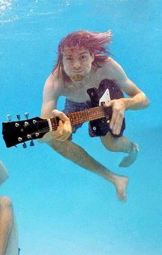 Nirvana pool photos taken by Kirk Weddle in November of Nirvana Kurt Cobain, Kirk Cobain, Nirvana Art, Eddie Vedder, Grunge, Rock And Roll, Music Rock, Donald Cobain, Scott Weiland
