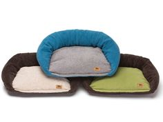 Tuckered Out® Dog Beds feature a two-pillow design for an easier entry for puppies and sore, stiff mature dogs to climb in and out of with a rounded rear bolster for support. Entire bed is washer and dryer-friendly for an easy clean.