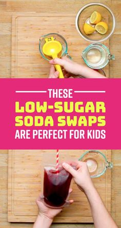 Healthy Snacks For Kids 4 Homemade Low-Sugar Drinks To Try Instead Of Soda - Parents will love these too. Healthy Soda, Healthy Drinks For Kids, Kid Drinks, Healthy Recipes On A Budget, Healthy Smoothies, Beverages, Healthy Meals, Alcoholic Drinks, Cocktails