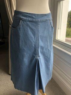 M&s Per Una Denim-style Skirt Size 8 Bnwt