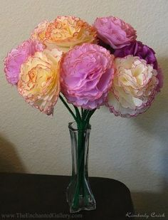 The Enchanted Gallery: Making a Tissue Paper Flower Bouquet with Scallop Circle Nestabilities