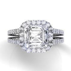 Capri Jewelers Arizona ~ www.caprijewelersaz.com Danhov Diamond Engagement Ring XE109 Asscher
