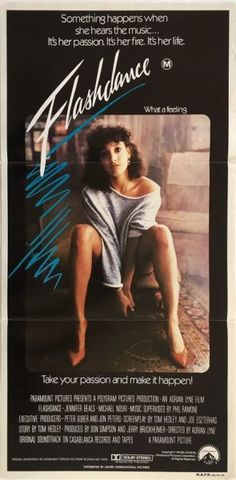 Flashdance original 1983 Australian Daybill movie poster. Available for purchase from our website.