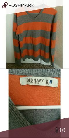 Old Navy   Orange & Gray Stripped Top This is a Orange & Gray long sleeve stripped top from Old Navy. This top is in great condition, like new!   Feel free to make an offer! No trades. Please don't advertise your closet Old Navy Shirts
