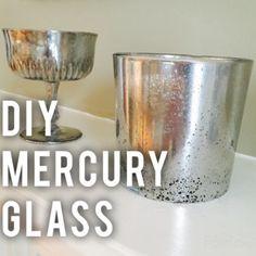 How to make DIY mercury glass