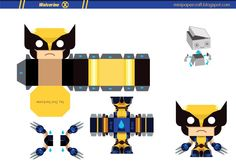 Image Detail For 741 Wolverine Mini Papertoy Template Paper Toy Origami Art