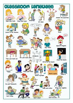 Classroom Language Picture Dictionary More