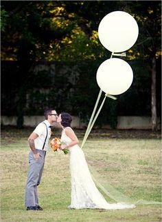 round white balloons. love