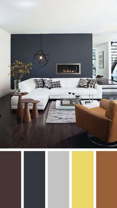 Great living room wall colors Living room color schemes ideas will help you to add harmonious shades to your home which give variety and feelings of calm, You Need to Try This Year! Brown Living Room Decor, Living Room Color Schemes, Room Interior, Living Room Grey, Living Room Wall Color, Modern Living Room Colors, Brown Living Room, Room Wall Colors, Living Room Color Combination