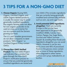 3 Tips For A Non-GMO Diet. http://gmoinside.org/3-tips-for-a-non-gmo-diet/