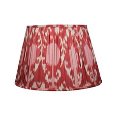 "18"" 'The Red Pomegranate' Silk Ikat Lampshade - lighting - furniture & lighting"