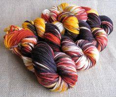 Zombie Sunset - Superwash Merino Bulky Yarn - Hand Dyed - 137 yds - $16.50