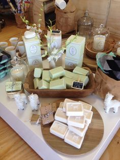 Hand made French Pear and Goats Milk soap all made in Melbourne @ Amarillo+