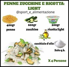 RICETTA CHRISTMAS WEEK... . . . PENNE ZUCCHINE E RICOTTA! DELIZIOSA, LIGHT E PRONTA IN 2 MINUTI! . PROCEDIMENT Real Food Recipes, Vegetarian Recipes, Healthy Recipes, Naan, Gym Food, Balanced Meals, Ricotta, Fake Food, No Calorie Foods