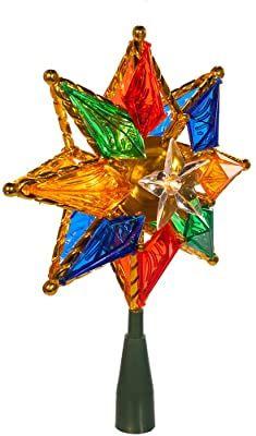 Kurt Adler 10-Light 8-Point Star Christmas Treetop, 8-Inch, Multi-Colored Christmas Tree Gif, Star Christmas Lights, Christmas Tree Toppers, Christmas Tree Decorations, Christmas Holidays, Xmas, Christmas Ornaments, Christmas Ideas, Twinkle Star