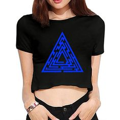 TLK Custom Women Maze Runner Wicked Symbol Sexy Crop Top * You can get additional details at the image link. (This is an affiliate link and I receive a commission for the sales)