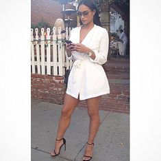 If the outfit was just a little longer lol. Fashion Killa, Look Fashion, Fashion Outfits, Womens Fashion, White Fashion, Spring Fashion, White Outfits, Summer Outfits, Classy Sexy Outfits