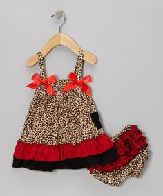 Take a look at this Red Leopard Swing Top & Diaper Cover - Infant by Royal Baby by Royal Gem Clothing on #zulily today!
