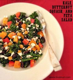 Meatless Monday: Kale, Butternut Squash and Feta Salad | Fuel Your Future with Tina Muir