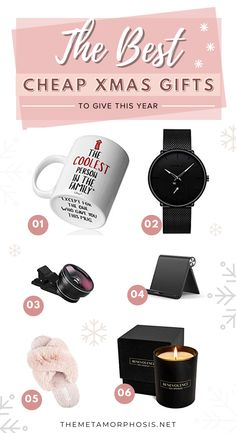 These cheap christmas gifts are perfect OMG!! Now I can definitely get everyone a christmas gift on a budget! Definitely worth checking out these christmas gift ideas! #christmas #giftideas #giftguide