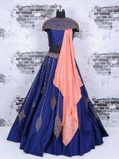 silk fabric ar lehenga choli