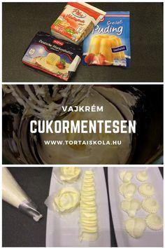 Minap böngésztem a kedvenc oldalamat és mit találok:-) Érdekes, hogy nekem ez eszembe sem jutott, holott készült már ilyen típusú krém:-) De vágjunk is bele:-) HV: 1/2 zacskó pudingpor 200 ml tejsz… Fondant, Icing, Cake, Food, German, Kuchen, Essen, Meals, Gum Paste