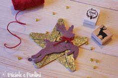 Addobbi di Natale fai da te: stella glitter con gli abbassalingua