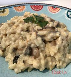 Risotto de champignons au Cookéo Actifry, Grilling, Meat, Chicken, Ethnic Recipes, Parfait, Food, Diners, Dessert