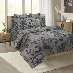 Shop this Petiole Grey Print Veda Bed in a Bag Set Online from WoodenStreet. #beddingsets #bedsheetset #bedfittedsheets #beddingsetsonline #cottonbeddingsets Bed Sheets Online, Bedding Sets Online, King Size Bed Sheets, Bed Sheet Sets, Pillow Covers Online, Wooden Street, Cotton Bedding Sets, Bed In A Bag