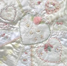 I ❤ crazy quilting & ribbon embroidery . . . (spectacular block) Problem Child/Debbie Quirion ~By Pinyon Creek Stitchin'